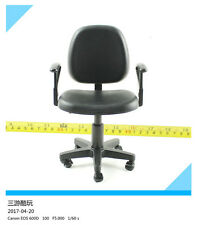 "1/6 Scale Black Swivel Chair Model Sofa Toy For 12"" Action Figure Doll"
