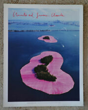 Christo and Jeanne Claude surrounded islands offset  36,5 x 28,5 cm hand signed