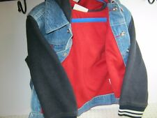 Levi's Strauss - 3T Blue Jean Hooded Jacket / Fleece Lined Heavy Cotton Sleeve