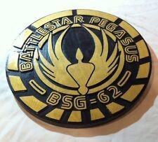 Battlestar Pegasus 3D routed carved wood bar pub prop Galactica Custom