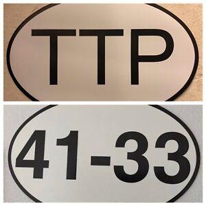Philadelphia Eagles 41-33 Super Bowl/ 76ers TTP Car Magnet Combo. Wentz Embiid