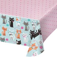 PURRFECT CAT Plastique Fête Tablecover Cat Lover Fête D'Anniversaire Chaton Nappe