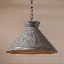 ROOSEVELT Shade Light with WILLOW in Kettle Black punched Tin
