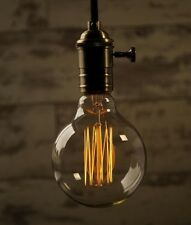G95 E27 Industrial Vintage Dimmable Edison Filament Light Bulb Squirrel Cage 60W