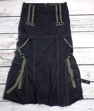 TRIPP Black Convertible Mini Maxi Skirt Hot Topic Goth Punk Military Bullets M
