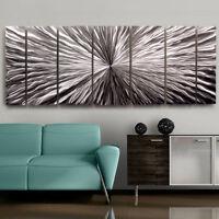 Silver Contemporary Metal Wall Art - Handmade Abstract Home Decor by Jon Allen