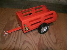 Vintage Nylint Toy Trailer Farms Orange Horse Very Nice Pressed Steel metal