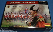 STRELETS SET 140. HIGHLANDERS ON THE MARCH. NAPOLEONIC. 1/72 SCALE.