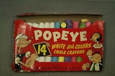 Los Pitufos Mini Stock Viejo Tienda Crayon set 1980s