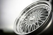 New 16 inch 5x100-112 Forzza Malm BBS RS style silver polished lip wheels JDM