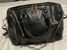 Tory Burch Black Saffiano Leather Robinson Middy Satchel Bag $495 Purse Retail