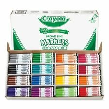 Crayola Classpack Markers - Conical Marker Point Type - Assorted Ink - (588201)
