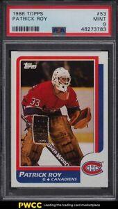 1986 Topps Hockey Patrick Roy ROOKIE RC #53 PSA 9 MINT