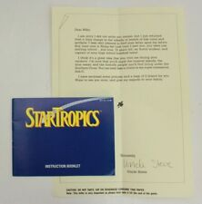 Startropics W/Letter Attached (NES) MANUAL ONLY NO GAME