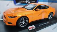 MAISTO 1:18 Scale Diecast Model Car 2015 Ford Mustang GT in Metallic Orange