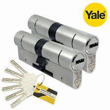 Genuine Yale jante cylindre en laiton Nightlatch x2 touches NEUF