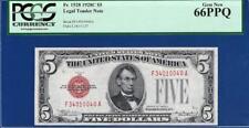 1928C $5 Red Seal United States Note FA Block PCGS Gem Uncirculated CU 66PPQ C2C