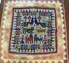 HANDMADE BEAD EMBROIDERY OLD TRIBAL ETHNIC WALL HANGING DECOR TAPESTRY 2