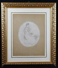 Henry CROS (1840-1907) Esquisse dessin symbolisme J. Valadon Etex narbonne