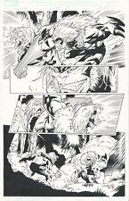 X-MEN FOREVER #7 PAGE 11 RON LIM / HAMSCHER ORIGINAL ART SABRETOOTH