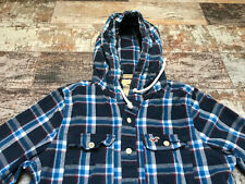 Hollister Men's Multi Checked Hoodie Long Sleeve Shirts Size S