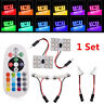 2Pcs RGB LED Car Roof Dome T10 5050 12SMD Reading Light Lamp Bulb Remote Control