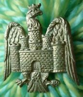 Bedfordshire Yeomanry Cap Badge All White Metal 2 Lugs Antique ORIGINAL