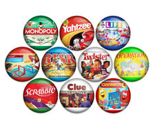 "Board Games 1"" Pin Back Buttons Badges Pins (Pack of 10)"
