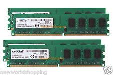 Crucial 8GB 4X 2GB DDR2 PC2-6400 800MHz 240pin DIMM Dekstop Memory RAM PC6400