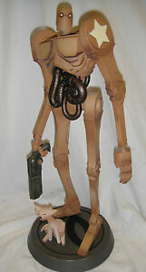 """SIDESHOW  POPBOT and KITTY 15"""" Tall POLYSTONE STATUE #388/500 By Ashley Wood"""