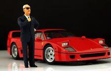 Enzo Ferrari Figur für 1:18 Burago F40 250GTO BBR VERY RARE!