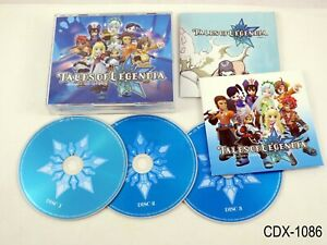 Tales of Legendia Original Soundtrack Music 3 CD PS2 OST Japan Import US Seller