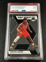 ZION WILLIAMSON 2019 PANINI MOSAIC #269 NBA DEBUT ROOKIE RC PSA 9 PELICANS (A)