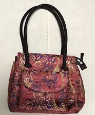 NEW Chinese Embroidered Traditional Purse Handbag Red Maroon Zipper Pockets