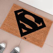 Zerbino Superman DC Comics Fibra di Cocco 60 x 40 cm Tappeto Casa Colore Marrone