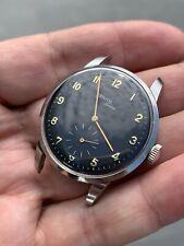 Zenith Sporto Cal 126 Rare Vintage Watch Oversize Black Dial