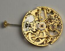 Esqueleto Oro escribiesen Mecánico Manual Wind Reloj movimiento Steampunk proyecto