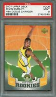 2007-08 upper deck nba dodge charger #dc6 KEVIN DURANT warriors rookie PSA 9