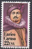 USA Briefmarke gestempelt 22c Enrico Caruso / 450