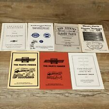 Vintage Chevrolet Body Parts / Accessories Catalog Book Lot Chevy Truck Pamphlet
