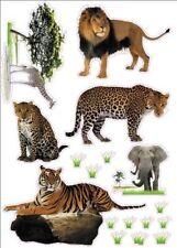 "Wild Animals Artwork Kids Living Room Decor Wall Sticker Decal 15""W X 23""H"
