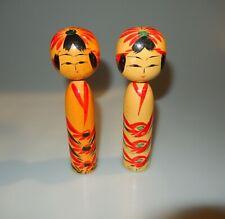 Japanese Kokeshi Doll Set of 2 Yamaha Vintage