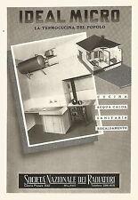 W9225 IDEAL MICRO la termocucina del popolo - Pubblicità del 1940 - Vintage ad