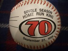 ST LOUIS CARDINALS MARK MCGWIRE 70 HR KING  SOUVENIR BASEBALL, BEAUTIFUL, LN!!
