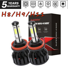 4-Sides H11 LED Headlight H8 H9 Kits 2000W 300000LM Bulbs High Power 6000K White