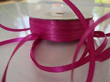 20 METER Satinband 3mm Farbe: MAGENTA Borte Dekoband Hochzeitband