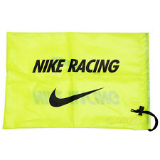 New NIKE Track & Field Spikes Shoe String Bag Carry Tote Drawstring Volt Yellow
