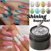 Nail Art Glitter Powder Dust UV Gel Acrylic Powder Sequins Xmas Nails Tips LK