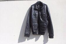 Veste en cuir noire Celio