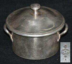 Antique XIX Tureen Lidded Bowl Pan Fraget  Silverplated Russian Empire/Poland